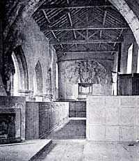 Nave, interior, looking west (photo: Harry Gill, 1912).
