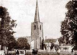 The church of St Mary Magdelene, Attenbrough in the 1920s