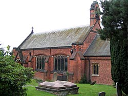 St Peter's church, Awsworth was originally built in 1746 and enlarged in 1902-3 (photo: A Nicholson, 2004).