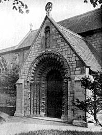 North porch of Balderton church, c.1911.