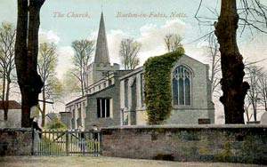 Barton-in-Fabis church, c.1905.