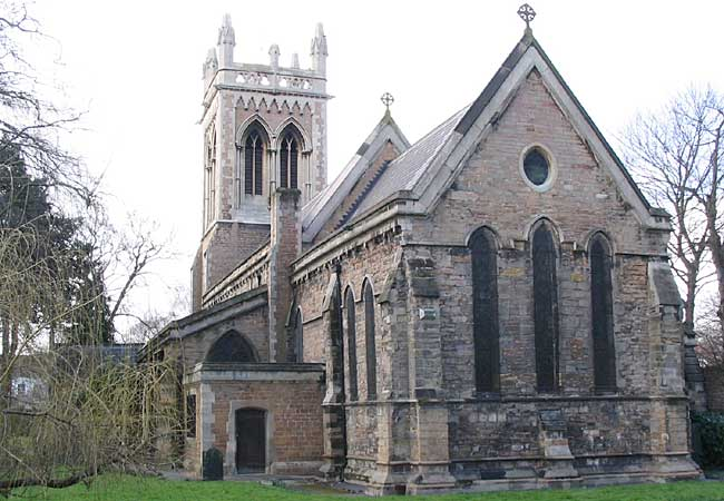 The church of St Leodegarius, Old Basford in 2005.