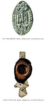 The monastery seal and Prior Wartyr's seal.