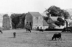The remains of Beauvale Priory seen from the north-east (c.1930).