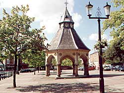 The Butter Cross in Bingham marketplace