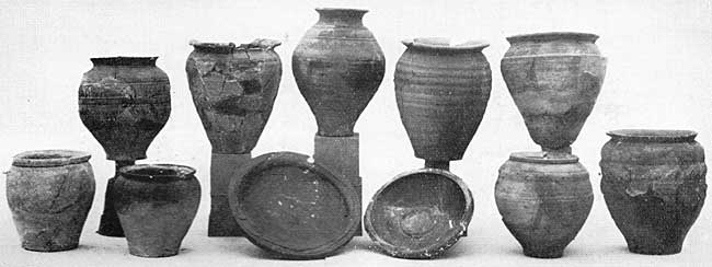 PLATE VI. Pottery of Claudian well.