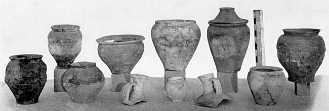 PLATE XVII. Pottery of ditch, south of the main road.