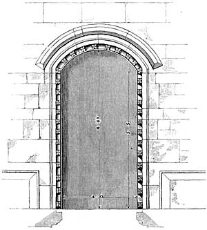 Doorway of school, Blyth.