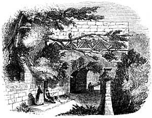 The gateway of Tickhill Castle (1844).