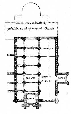 Plan of the Church of St Mary and St Martin, Blyth.