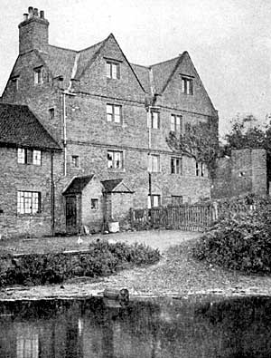 The north side of Bramcote Manor House.