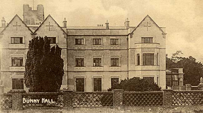Bunny Hall in the early 20th century