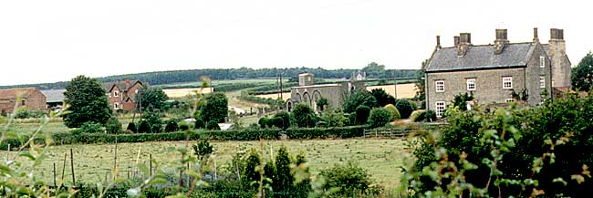 The village of Carburton in the 1980s