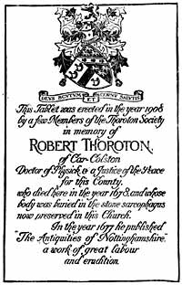Thorotn plaque