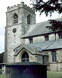 Caunton church, 1984.