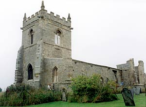 The old church undergoing restoration in 2003.