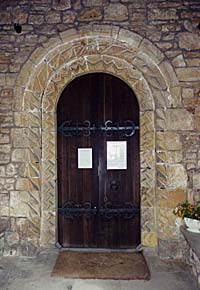 Norman doorway to St Mary's church, Norton Cuckney in 2002.