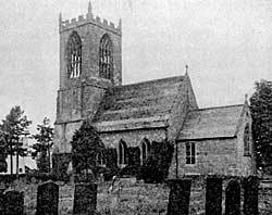 St Oswald's church, Dunham-on-Trent, in the 1920s.