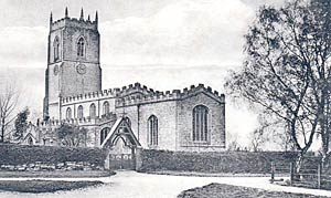 East Drayton church, c.1910.