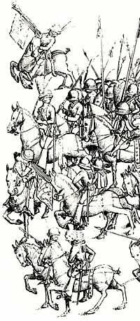 German mercenaries of the 15th century.