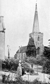 Epperstone church, c.1900.