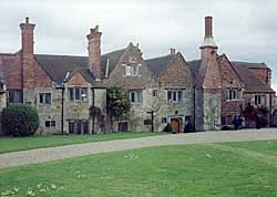 The 17th century gables of the west front of Felley Priory.