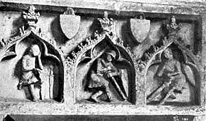 Plate I (a)  Part of Easter sepulchre, Fledborough church.