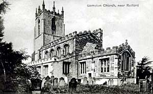 Gamston church, c.1905.