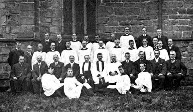 Group of clergy, church officers, &c.