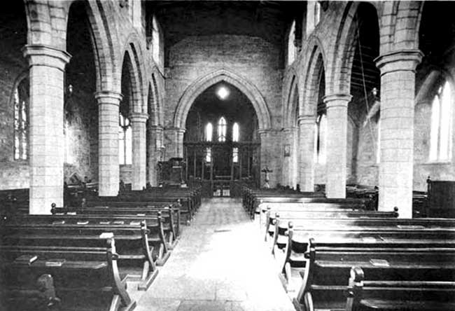 Interior, looking East.