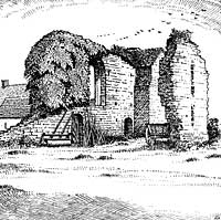 Ruins of th church at Beauvale