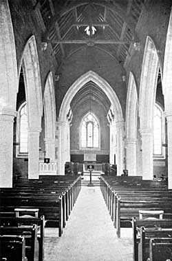 Restored interior of St. Mary, Greasley.