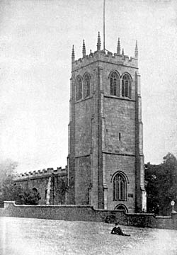 Tower of St. Mary, Greasley, before the restoration of the church.