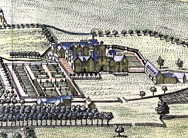 View of Haughton Hall, c. 1709.