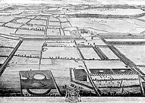View of Haughton Park, c. 1709.