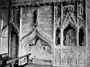 The Easter Sepulchre in 1905.