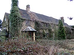 Hempshill Hall, overgrown and empty, in 2003.