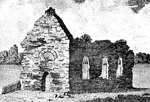 The ruins of Kimberley chapel, c.1790.
