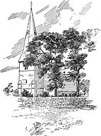 Kirkby church, c.1907.