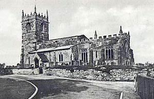 Kneesall church in the 1930s.