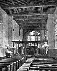 Interior, Lambley church.