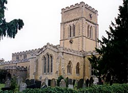 "The church of St Andrew, Langar, was ""unfortunately so vigorously restored in the 1860s by the Rev. Thomas Butler that little of the original surface remains"" (Pevsner, 1981)."