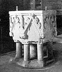 Font, Lowdham church.