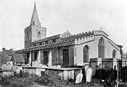 St Peter's church, Mansfield, c.1912.