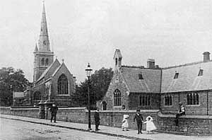 St Johns Church and school, c.1905.