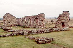 Thirteenth century arcading in the Refectory at Mattersey Priory