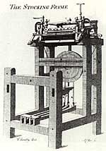 The stocking frame, from an 18th century print.