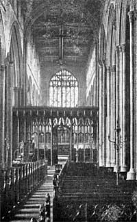 Nave, looking east.
