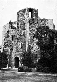 Newark Castle — the Gatehouse from the South East.