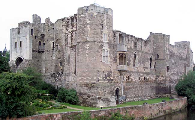 Newark Castle — the Gatehouse, North Tower and part of the River Front.